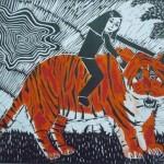 Горохова Мария 10 лет Девочка и тигр