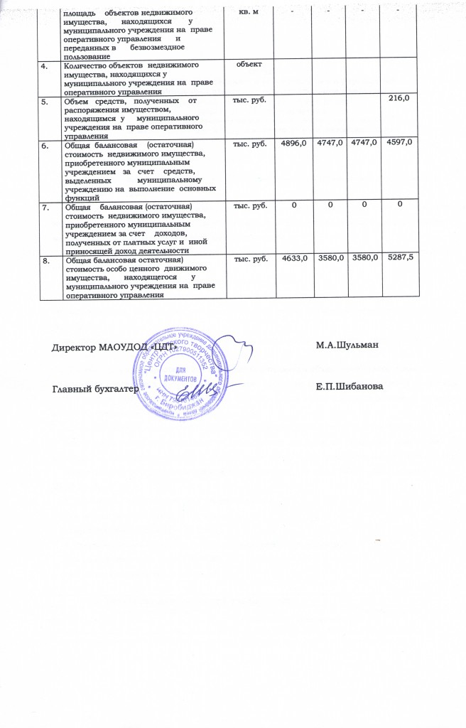 Отчет о результатах деятельности за 2013 год лист 4