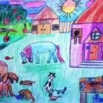 ЗАЛАНОВА Анна, 9 лет Лето в деревне