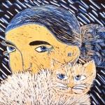 Еленец Софья, 11 лет Девушка с котом