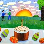 ТРЕТЬЯКОВ Никита, 12 лет Пасхальный натюрморт