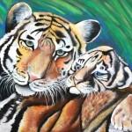 Черкашина Татьяна, 14 лет Тигрица с тигренком